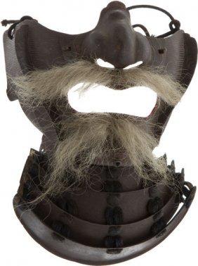 Japanese Samurai Face Armor (Men Gu).