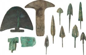 Lot Of 11 Assorted Luristani Bronze Age Points A