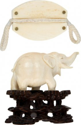 Lot Of Two Contemporary Ivory Collectibles.