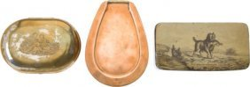 Lot Of Three Collectible Snuff Boxes.