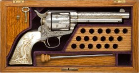 Cased London Engraved Colt Frontier Six-Shooter