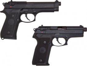 Beretta Lot (2) Models 8045 & 92SF.45 & 9mm Semi