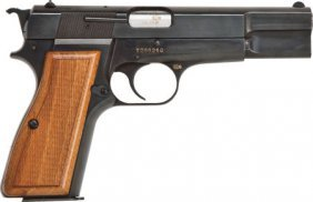 Browning Hi-Power Semi-Automatic Pistol With Ext