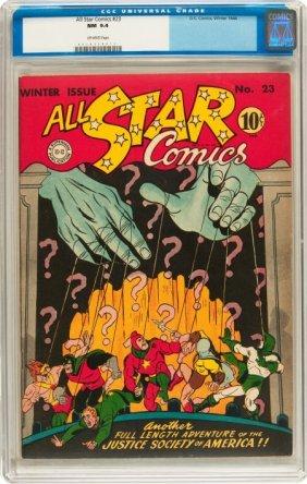 All Star Comics #23 (DC, 1944) CGC NM 9.4 Off-wh
