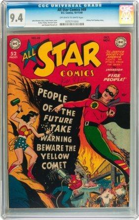 All Star Comics #49 (DC, 1949) CGC NM 9.4 Off-wh