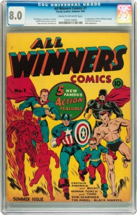 All Winners Comics #1 (Timely, 1941) CGC VF 8.0