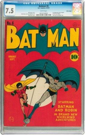 Batman #6 Billy Wright Pedigree (DC, 1941) CGC V