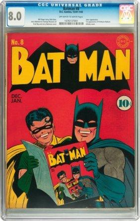 Batman #8 (DC, 1942) CGC VF 8.0 Off-white To Whi