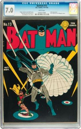 Batman #13 (DC, 1942) CGC FN/VF 7.0 White Pages.