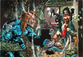 Simon Bisley Heavy Metal F.A.K.K. 2 Illustration