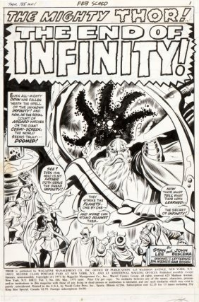 John Buscema And Jim Mooney Thor #188 Splash Pag