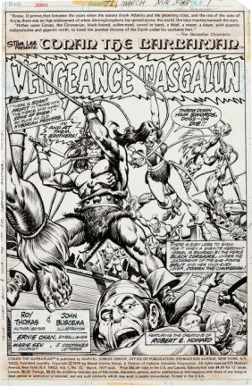 John Buscema And Ernie Chan Conan The Barbarian