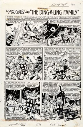 Sal Buscema And Joe Sinnott Hostess Fruit Pies A