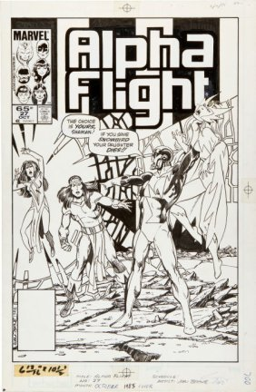 John Byrne Alpha Flight #27 Cover Original Art (
