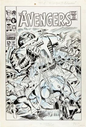 Don Heck Avengers #37 Unpublished Alternate Cove