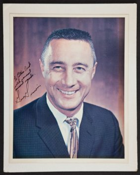 Gus Grissom Signed Color Photo.