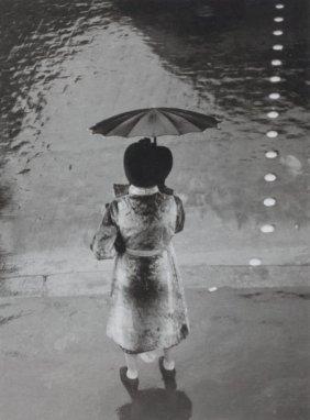 BRASSA� (French, 1899-1984) La Femme Au Paraplui