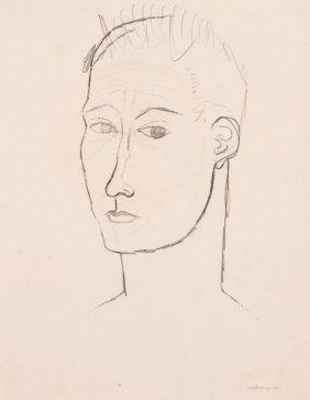 KELLY FEARING (American, 1918-2011) Self-Portrai