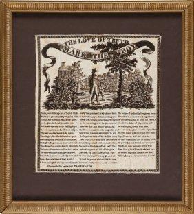 George Washington: 1806 Commemorative Textile.