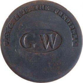 George Washington: Superb GW In Oval.