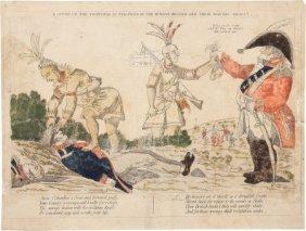 War Of 1812: Anti-British Indian Scalping Scene