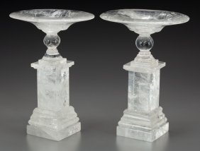 A Pair Of Neoclassical-style Rock Crystal Tazze,