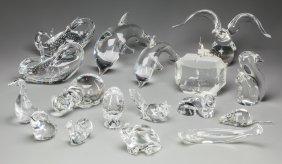 A Collection Of Twenty-seven Steuben Glass Figur