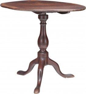 An Early George Iii Walnut Tilt-top Table, 18th