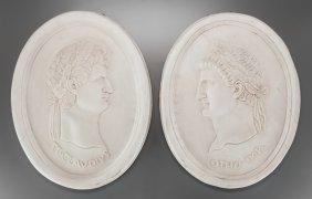 A Group Of Four Italian Carrara Marble Portraits