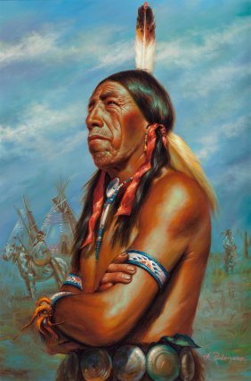 Alfredo Rodriguez (american, B. 1954) Chief Blac