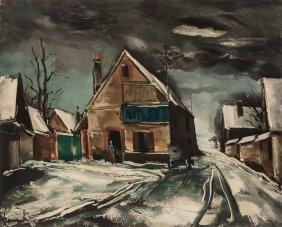 Maurice De Vlaminck (french, 1876-1958) Village