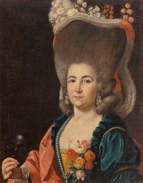 Follower Of Alexander Roslin Portrait Of A Lady