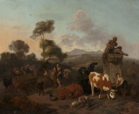 Dirk Van Bergen (dutch, 1635-1700) Dutch Italian
