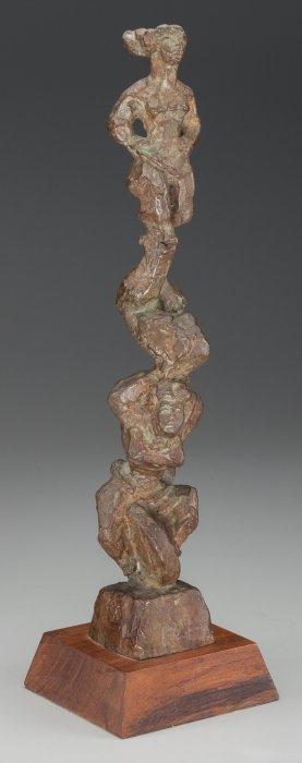 Chaim Gross (american, 1904-2004) Three Acrobats
