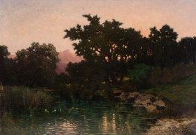 Max Joseph Von Sury (swiss, 1842-1920) Soir (sol