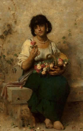 After Leon Jean Basile Perrault The Flower Vend