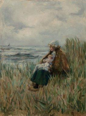 Fokko Tadama (dutch, 1871-1946) Woman With Her C