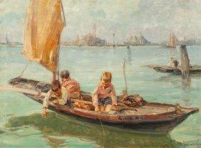 Angelo Brombo (italian, 1893-1962) Young Venetia