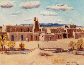 Albert Lujan (american/mexican, 1892-1948) Taos,