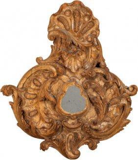 An Italian Baroque-style Carved Walnut Mirror, L