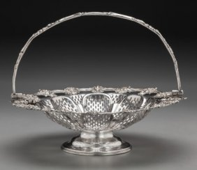 A Victorian Silver-plated Reticulated Basket, Sh