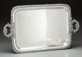 An English Sheffield-plate Serving Tray, 20th Ce