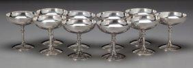 Ten Christofle Silver-plated Sorbet Stems, Paris
