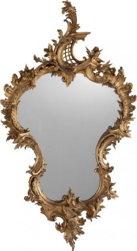 A Rococo Revival Giltwood Mirror Frame, Late 19t
