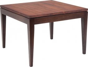 A George Nelson Rosewood Side Table For Herman M