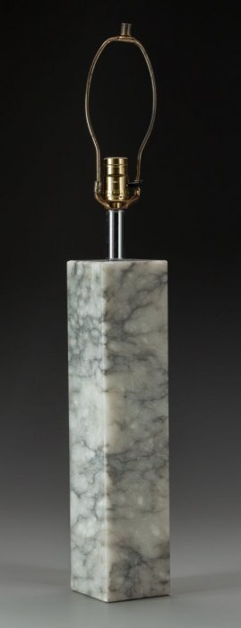 A Robert Sonneman Marble Table Lamp, Circa 1960