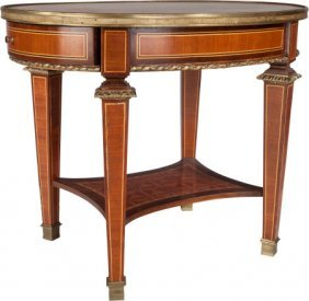 A Louis Xvi-style Marquetry Diminutive Table Wit