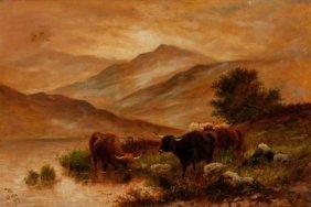 Joel Owen (british, 1892-1931) Cows In The Highl