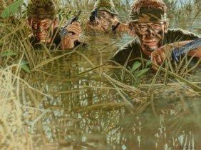 Peter Caras (american, B. 1941) War Gouache On B