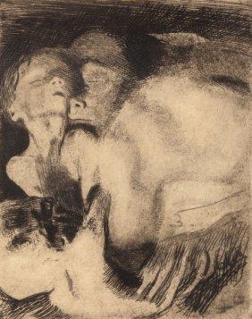 Käthe Kollwitz (german, 1867-1945) Tod Und Frau